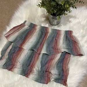 American Eagle: Striped Flowy Cropped Tube Top